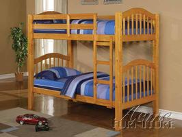 02359 Twin/ Twin Bunk Bed w/ 16 16 Slats