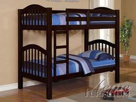 02554 Twin/ Twin Bunk Bed w/ 16 Slats