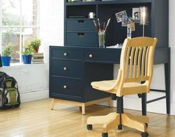 CHR-0071 Bailey Banker Chair - Bring spirit and energy into a child's room with the fun of a free-wheeling banker's chair. The swivel seat offers even more range of movement. Arm rests add to the comfort of the chair.