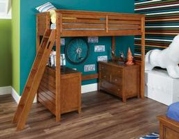 244-987R Full Tall Loft Bed - Willow Run Collection - Dimensions: W61