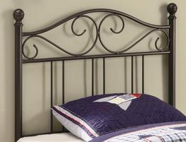 450103T Transitional Metal Twin Headboard