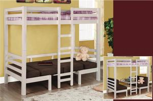 460273 Twin over Twin Loft Bunk Bed