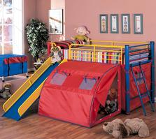 7239 Bunk Bed with Slide and Tent