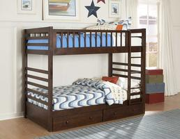 B33E-1 Dreamland Collection Twin over Twin Bunk Bed