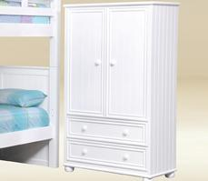 SJA306-BB-W Junior Armoire Bead Board in White  - W38