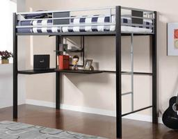 CM-BK1027 Clifton II Collection Metal Full over Loft Bed