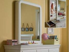 131A030 Classics 4.0 Summer White Collection Storage Mirror - Dimensions: 31W x 9D x 41H
