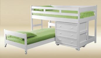 JTL-W Junior Loft Bed in White - H49