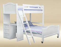 TF-LB-BB-W Twin/Full Loft Bed  - H67