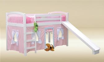 TL010-W Twin Size Loft Bed in White (Slide Not Included)  - Bed W41