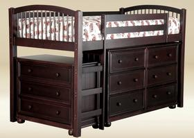 TL010-WA Twin Size Loft Bed in Walnut - W41