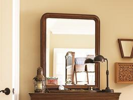 1311030 Classics 4.0 Saddle Brown Collection Storage Mirror - Dimensions: 31W x 9D x 41H