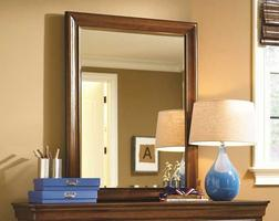 1311032 Classics 4.0 Saddle Brown Collection Mirror - Dimensions: 33W x 1D x 44H