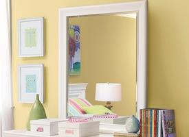 131A032 Classics 4.0 Summer White Collection Mirror - Dimensions: 33W x 1D x 44H