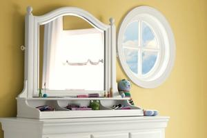 131A033 Classics 4.0 Summer White Collection Tilt Mirror  - Dimensions: 40W x 11D x 34H