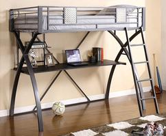 CM-BK1028 Twin Loft Bed w/ Workstation