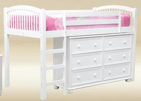 TL010-W Twin Size Loft Bed - W41