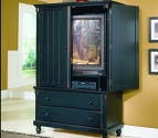 875-7 Pottery Collection Armoire in Black