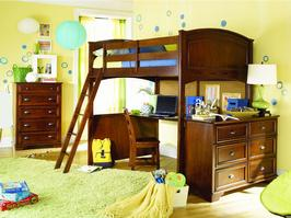 625-984R 4/6 Full Loft Bed - Deer Run - W82
