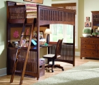 826-964R 3/3 Twin Loft Bed - Lea Elite Crossover Collection  - W82