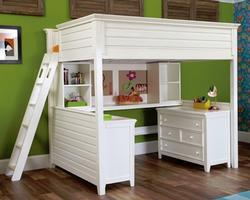 245-987R Full Tall Loft Bed - Willow Run Collection - Dimensions: W61